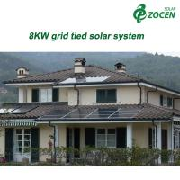 Wholesale Home Rooftop 8KW Grid Tied Solar Power System Mounting 220 - 240V from china suppliers