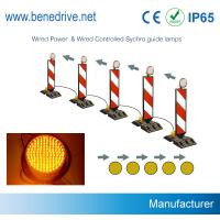 Wholesale Dia. 200mm Solar LED Sequencial Flashing Barricade Lights Synchronized Guidance System from china suppliers