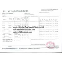 NINGBO REPULSE BAY SPECIAL STEEL CO., LTD Certifications