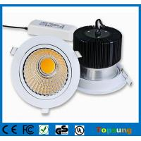 Wholesale Dimmable 120v COB led downlight 40W round led ceiling light pure white from china suppliers