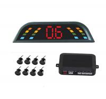 Wholesale 8 Sensors CE Car Reversing Parking Kit Buzzer Alarm LED Display Parking Aid sensor aftermarket park assist from china suppliers