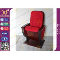 Wholesale Public Folded Veneer Auditorium Chairs / Red Lecture Hall Seating from china suppliers