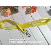 Wholesale Riveted nylon neck strap with heavy duty metal clasp hook, riveted nylon lanyards from china suppliers