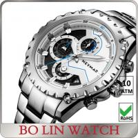 Quality Chronograph Stainless Steel Heavy mens sporty watches for outdoor activities for sale