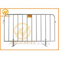 Wholesale Removable Portable Event Galvanized Steel Pedestrian Barriers with Flat Feet from china suppliers