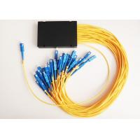 Wholesale Single Mode Fiber Optic Coupler 1x32 PLC Optical Splitter with 3mm G657A Fiber Cable from china suppliers