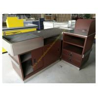 Wholesale Stainless Steel Supermarket Checkout Counter / Store Non Electric Cashier Desk from china suppliers