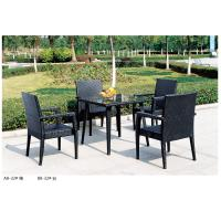 Wholesale 2014 open air plastic rattan table chair set for four person from china suppliers