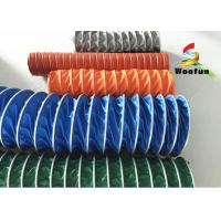 Wholesale Insulated High Temperature Flexible Duct , Flame Resistant PVC Ventilation Ducting from china suppliers