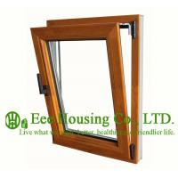 Wholesale Tilt and Turn Wood Clad Aluminum Window with Insulating Double Glass For Villas/Apartment from china suppliers