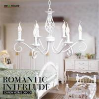Wholesale Iron Art Modern LED Chandeliers Metal Painting White Lamp Body Optional lustre para sala Home Decoration lampadarion Fre from china suppliers