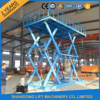 Wholesale CE 5T Heavy Duty Warehouse Stationary Hydraulic Scissor Lift 5M Max Lifting Height from china suppliers