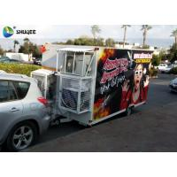 Wholesale Trailer Mobile 5D Cinema Black / Red Luxury Chair with Complete Special Effect Machine from china suppliers