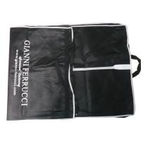 Wholesale OEM Lightweight Gianni 75g Unwoven Fabric Suit Garment Bag With PVC Card Pocket from china suppliers