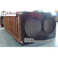 Finned Type Copper Tube Air Cooled Refrigeration Condenser ...