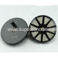 Quality 10 Seg Metal Grinding Concrete Pads With Post For Prepmaster for sale