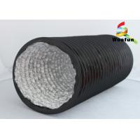 Wholesale Black Aluminum Round Flexible Duct , Multi - Function Elastic PVC Air Duct from china suppliers