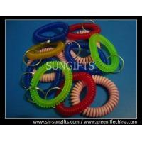Wholesale Budget key coils with split ring, soft wrist coil, key holder string from china suppliers