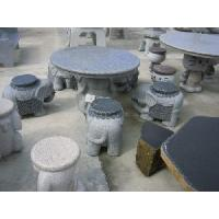 Quality Landscaping Outdoor Stone Tables and Benches for sale