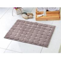 Wholesale Comfortable absorption microfiber anti slip floor mat grey polka-dot patterns style from china suppliers