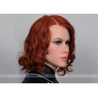 Quality Black Widow Celebrity Wax Statues Silicone Head Of Celebrity Wax Figure for sale