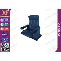Wholesale Real Leather Rocking Back Cinema Theater Chairs Fixed Floor Chair With Cup Holder for Musical Hall from china suppliers