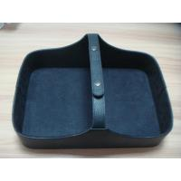 Wholesale Five Star Hotel Amenities, restaurant and Spa PU Leather shoe storage basket from china suppliers