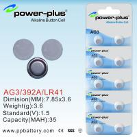 Wholesale coin cell batteries AG Series AG3/392A/LR41/1.5v from china suppliers