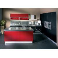 Wholesale Wine Red Gloss Home Modern Kitchen Cabinets , Stand Alone Kitchen Cabinets  from china suppliers
