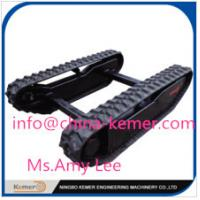 Buy cheap rubber cralwer track undercarriage/Rubber Track Undercarriage with Curved Bridge Angle from wholesalers