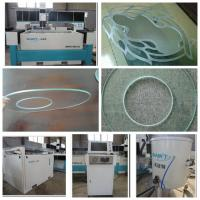 Buy cheap 1500*1500mm bridge type waterjet cutting machine with 420Mpa pump for glass cutting from wholesalers