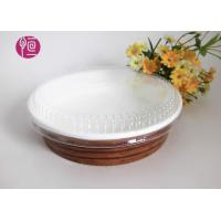 Wholesale 10oz Single Wall Paper Salad Bowls With Flat Lid Waterproof Wood Deisgn from china suppliers