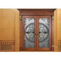 Wholesale Glass Lowes Wrought Iron Entry Doors And Glass Agon Filled 22*64 inch Size Durable from china suppliers