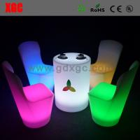 Wholesale Round Bar table furniture GF302 light furniture plastic Led furniture bar table set from china suppliers