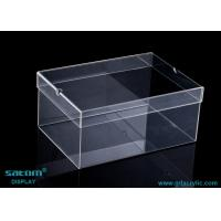 Wholesale Clear Acrylic Shoe Box , Customize Each Age Group Of Male / Female Shoe Case from china suppliers