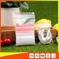 Polythene Clear Ziplock Bags Self Press Bags Grip Seal Bag With Red Lines