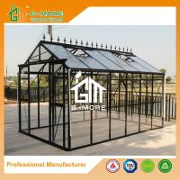 Wholesale 377X253X250CM Black Color Imperial Series Double Door Glass Greenhouse from china suppliers