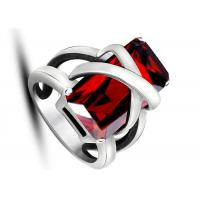 Wholesale Latest Design Jewelry Punk Rock Red Stone Rings Non - Allergic For Women / Party from china suppliers