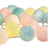 Wholesale Colorful cotton ball battery powered decorative led string from china suppliers