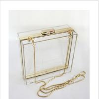 Wholesale Lucite acrylic clutch box / clear acrylic storage containers For Girls from china suppliers