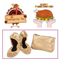 Wholesale Very Comfortable and Easy to Store in a Purse Colorful Foldable Ballet Shoe for Thanksgiving Day Gift from china suppliers