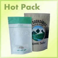 Wholesale White Kraft Paper Standing Up Bag With Zipper at The Top for Food from china suppliers