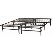 Quality Adjustable black wire mesh metal frame bed queen size long lasting folding metal bed for sale