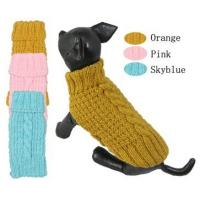 Wholesale Bulldog Pet Clothes Hand Knitted Winter Dog Coats For Whippet , Spinone Italiano from china suppliers