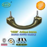 Wholesale Metal hardware zamak Coffin Handles, Bronze Color and High Polished H028 size 17.5*7 cm from china suppliers