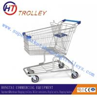Wholesale American Style Supermarket Basket Shopping Cart / Trolleys With Four Wheels from china suppliers