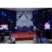 Wholesale Fireproof Velvet LED Star Cloth Curtain Events Background Stage Decor from china suppliers