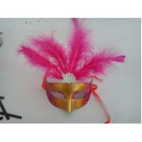 Wholesale Halloween Venetian Masquerade Party Multicolor Shell Decoration Mask With Feather from china suppliers