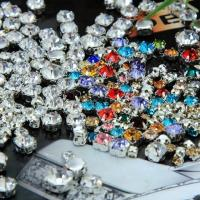 Wholesale point back rhinestone silver claw sew on crystal glass stone in round from china suppliers