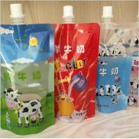 Wholesale Cartoon Printing Fresh Milk Liquid Spout Bags 2 Layers Material from china suppliers